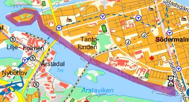 8,5 km, till Reimersholme, runt och tillbaka.