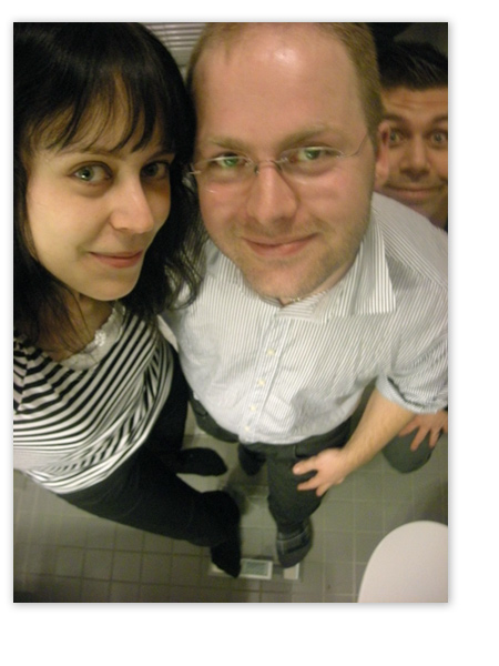 Alexia, jag och Bengt upp i hörnet.