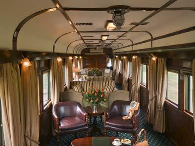 Lounge-vagnen. Skön va? Foto: Rovos Rail