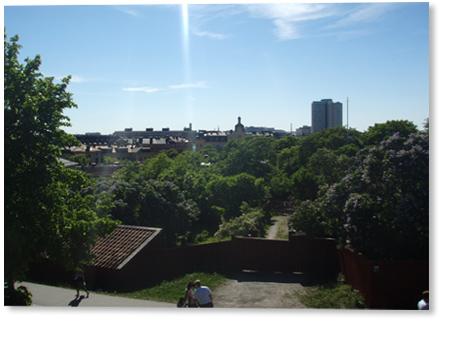 Picknick vid Sofia Kyrka